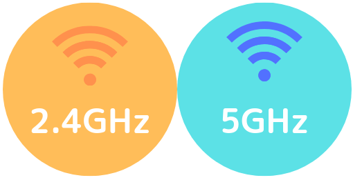 WiFiを「5GHz」に変更する
