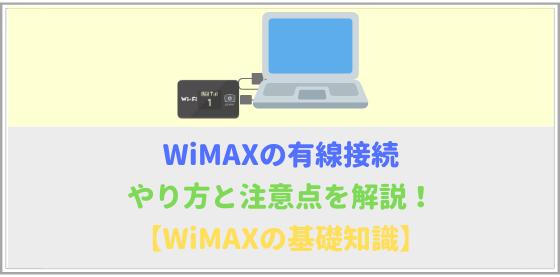 WiMAXの有線接続方法と注意点を詳しく解説!