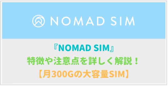 OMAD SIM(ノマドシム)は微妙?特徴や注意点を詳しく解説!