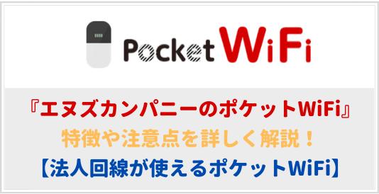 エヌズカンパニーのポケットWiFiの特徴や注意点を徹底解説!